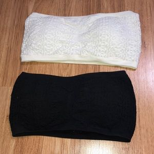 Two strapless bralettes from Aeropostale